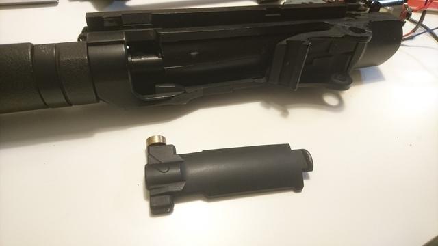 M14 socom 分解作業 パッキン交換 ボルトカバー取り外し