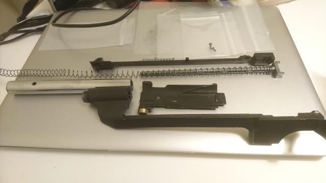 M14socom 軽量化 チャージングレバーアセンブリ